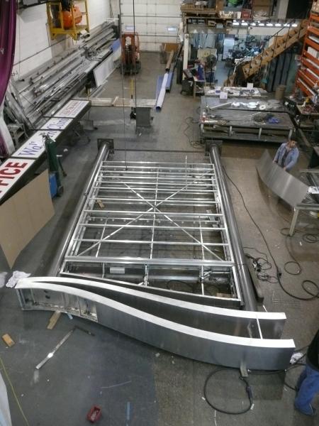 Pylon Sign Aluminum Structure Fabrication