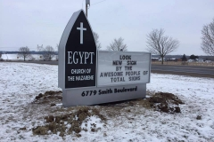 Egypt Church Changeable Message Pylon